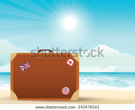 Vector summer landscape - stock vector