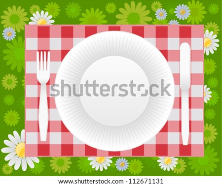 vector summer picnic design - stock vector