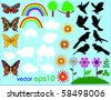 Vector summer set - stock vector