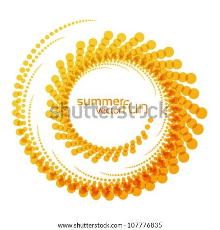 vector sun, abstract summer fun illustration ,logo - stock vector