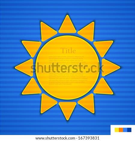 Vector sun background. Eps10 - stock vector