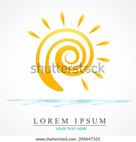 vector sun illustration - stock vector