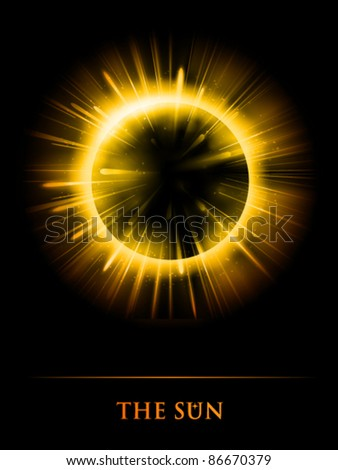 vector Sun illustration - stock vector