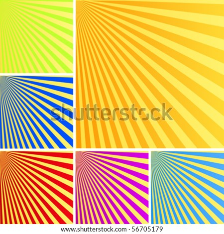 vector sun rays background in colors