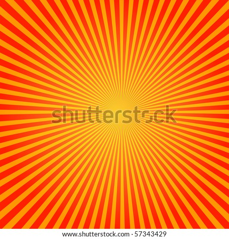 Vector Sun Sunburst Pattern - stock vector