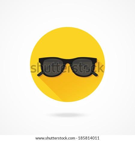 Vector Sunglasses Icon - stock vector