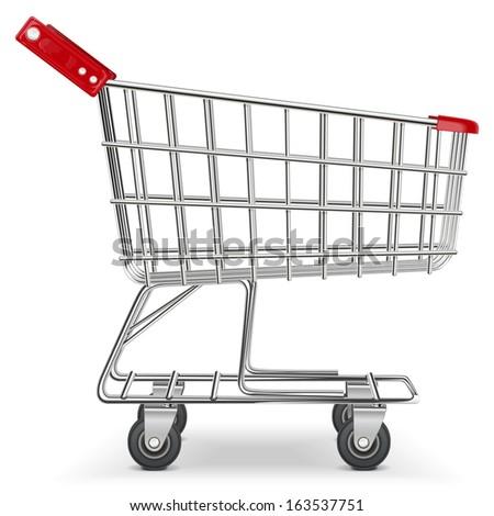 Vector Supermarket Cart - stock vector