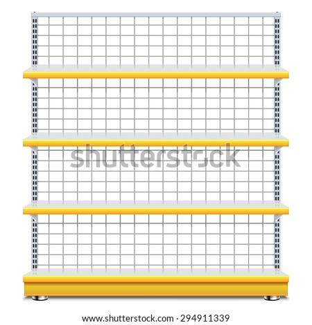 Vector Supermarket Shelves - stock vector