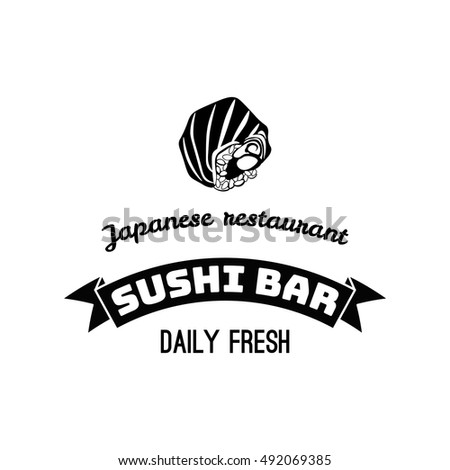 Vector Sushi logotype. Sushi vintage design element, logos, badge, label, icon and object