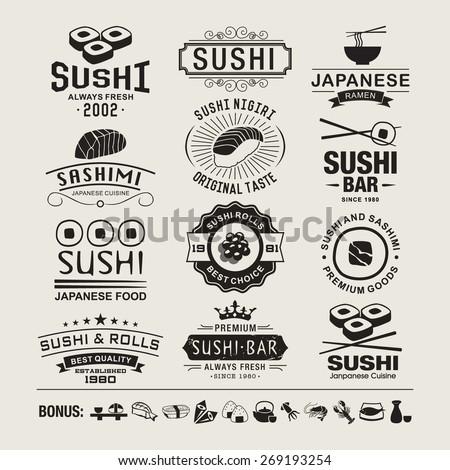 vintage label icons