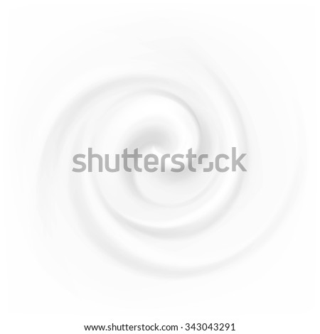 Vector Swirl Cream Texture Backgrounds Isolated on White - stock vector
