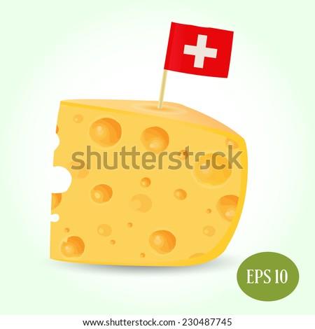 vector swiss cheese - stock vector
