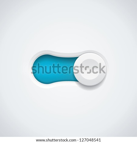 Vector switch button - stock vector
