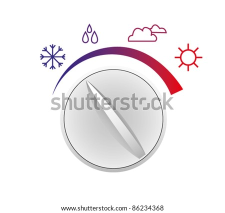 Vector switch of weather - stock vector