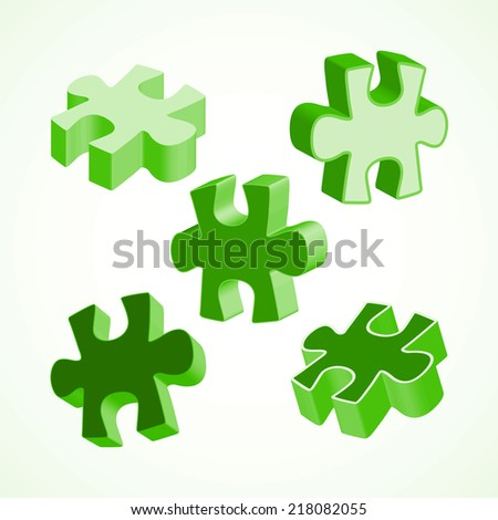 Vector SWOT illustration made from four colorful puzzle pieces - stock vector