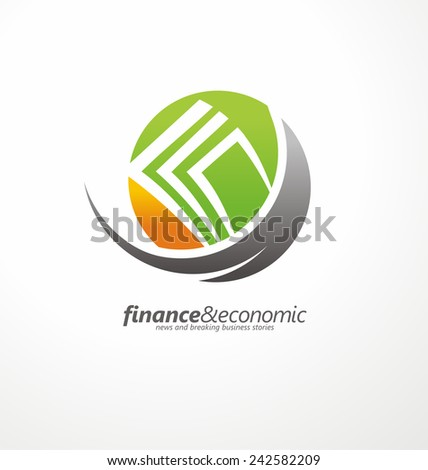Vector symbol concept with money in negative space - stock vector