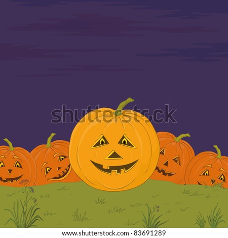 Vector, symbol of a holiday of Halloween: a pumpkins Jack O Lantern army
