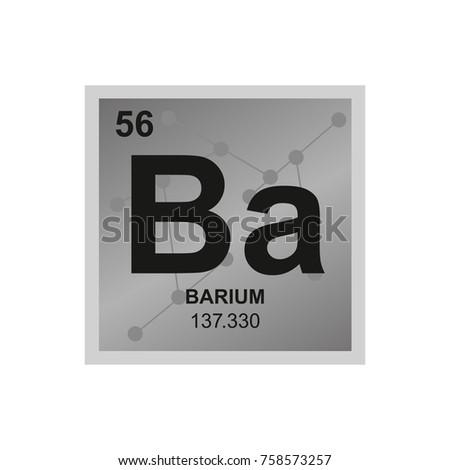 Vector Symbol Barium Periodic Table Elements Stock Vector 758573257