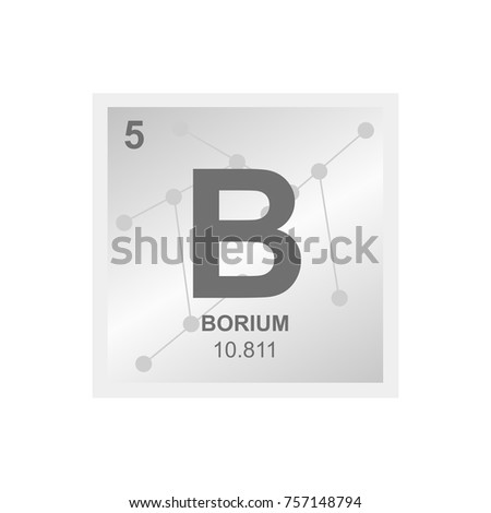 Vector Symbol Boron Periodic Table Elements Stock Vector Royalty