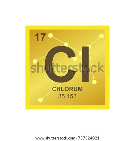 Vector symbol chlorine periodic table elements stock vector vector symbol of chlorine from the periodic table of the elements on the background from connected urtaz Gallery