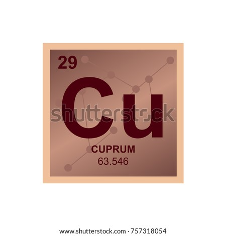 Vector symbol copper periodic table elements stock vector 2018 vector symbol of copper from the periodic table of the elements on the background from connected urtaz Images