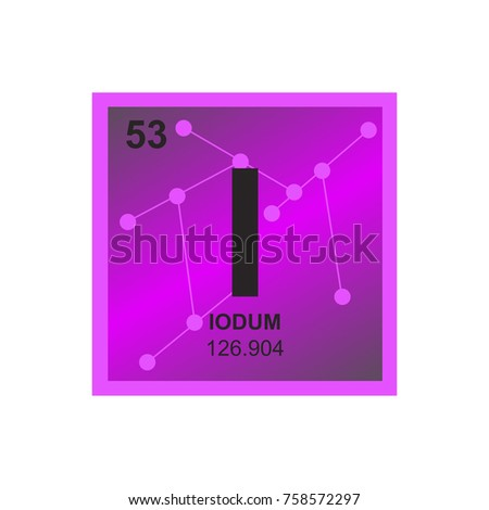 Vector symbol iodine periodic table elements stock vector vector symbol of iodine from the periodic table of the elements on the background from connected urtaz Image collections