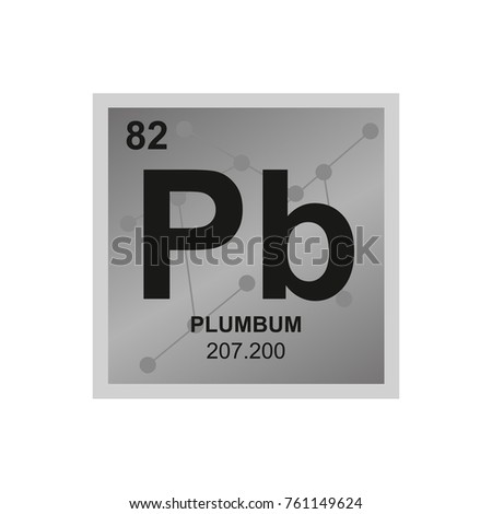 vector symbol lead periodic table elements stock vector 761149624 shutterstock - Periodic Table Symbol Pb