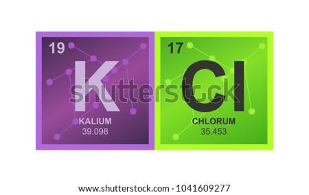 Vector Symbol Potassium Chloride Which Consists Stock Vector Hd