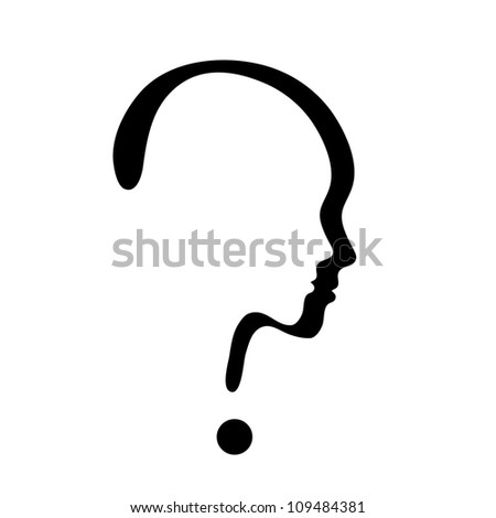 vector symbol of question mark isolated on white background - stock vector