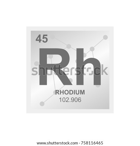 Carbon element on chemistry class blackboard stock vector vector symbol of rhodium from the periodic table of the elements on the background from connected urtaz Choice Image