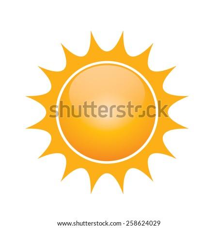 Vector symbol of sun  - stock vector