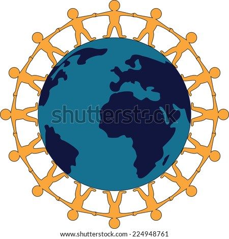Vector Symbol World Peace People Standing Stock Vector 224948761
