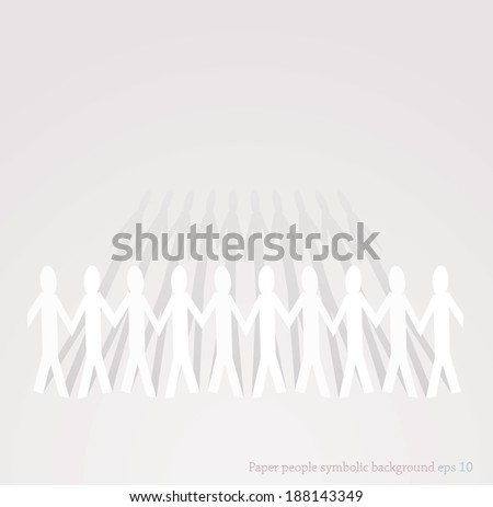 vector symbolic illustration for team work and togetherness of people