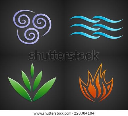Vector Symbols Four Elements Nature Air Stock Vector 228084184
