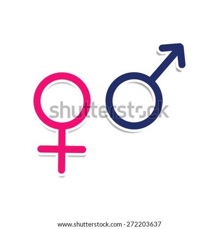 Vector Symbols Gender Male Female Mars Stockvector 272203637