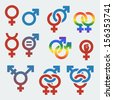 Vector symbols of sexual orientation and gender - stock