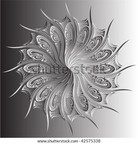 Vector symmetrical design - stock vector