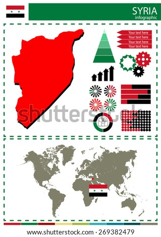 vector Syria illustration country nation national culture concep