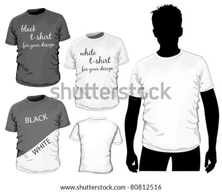 Vector t-shirt design template (no mesh) - stock vector