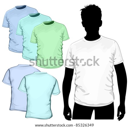 Vector t-shirt design template (no mesh)