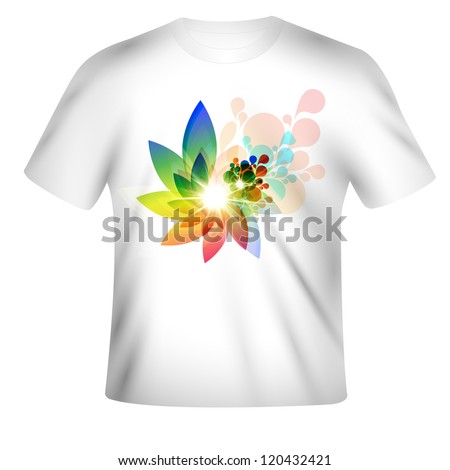 Vector t-shirt design with abstract art - stock vector
