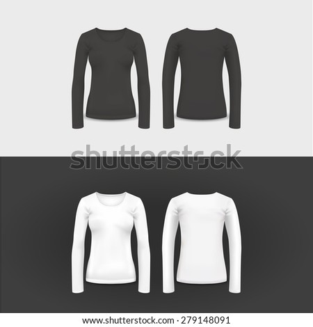 Vector t-shirt, polo shirt and sweatshirt design template. - stock vector