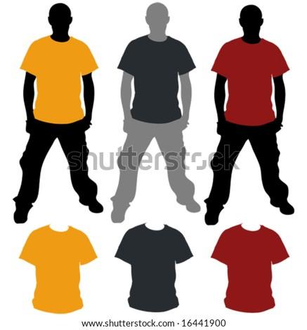 Vector T-Shirt TemPlate - stock vector