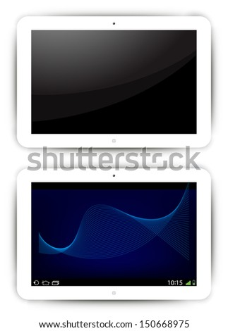 Vector tablet  icons  - stock vector