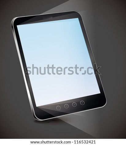 Vector tablet pc with empty screen - technology concept