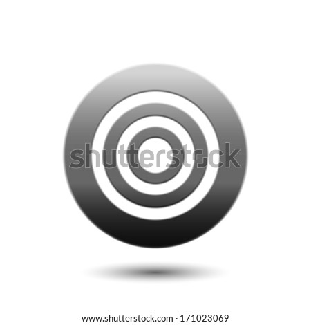 Vector Target | Aim icon - stock vector