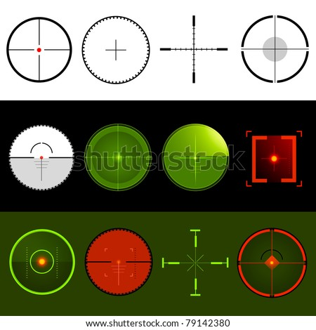 Vector Target Crosshairs - stock vector