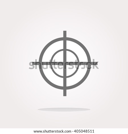 vector target icon, isolated on white background. Vector target sign web Icon logo, target sign web vector Icon Sign, target sign web Icon Flat, target sign web button vector - stock vector