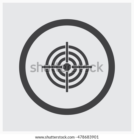 Vector target Icon web design style