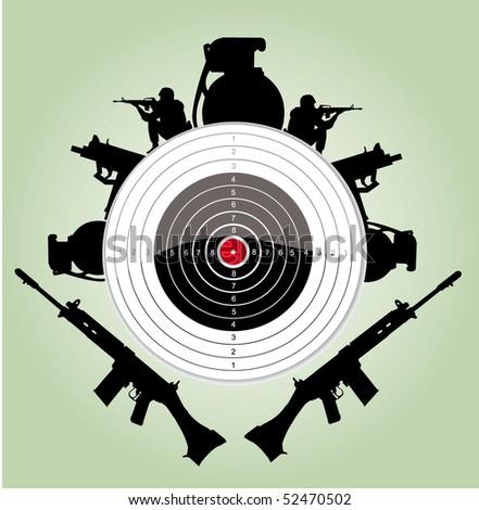 vector target sign - stock vector